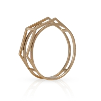 Open Pyramid Ring in 14K Yellow Gold 34148-200x200